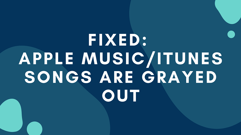 Fix Apple Music/iTunes Grayed Out Issue