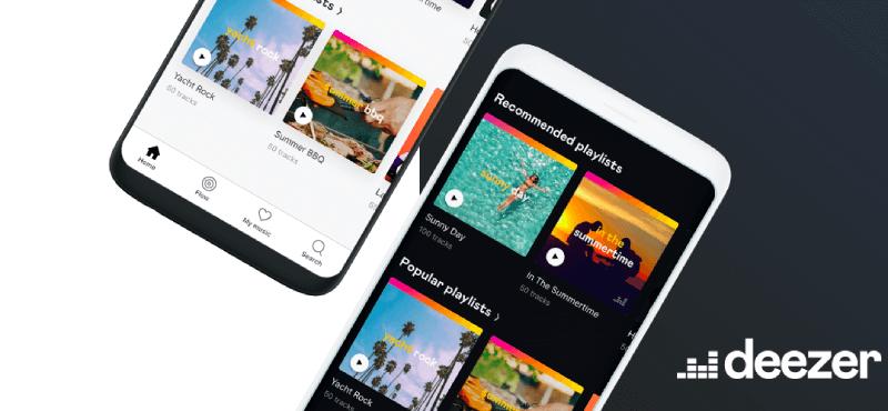 Deezer vs Spotify App Interface Deezer