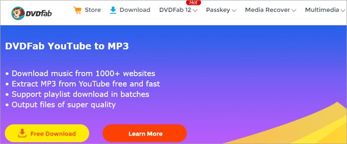 DVDFab MP3 Music Downloader