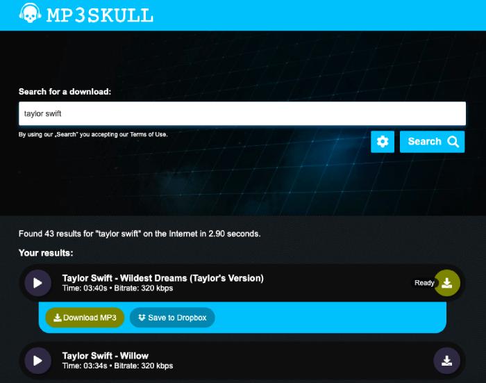 Free MP3Skulls Music Downloader