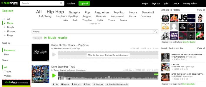 Hulkshare Music Downloader MP3