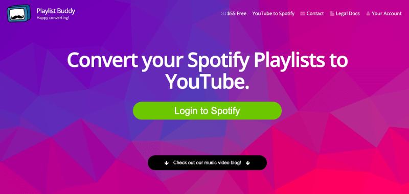 PlaylistBuddy Spotify to YouTube
