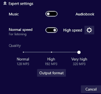 Audials Record Spotify Music Export Settings