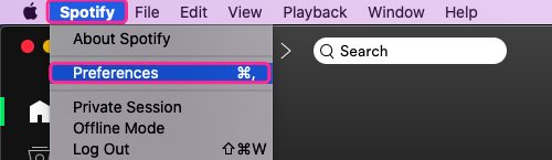 Upload Apple Music to Spotify Mac Preference