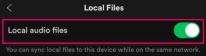 Upload Apple Music to Spotify iOS Enable Local Audio Files