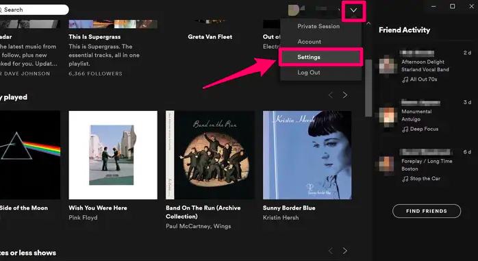 Upload Apple Music to Spotify Windows Settings